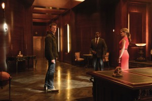 """(L-R) Philip Winchester,  Wesley Snipes, and Charity Wakefield star in """"THE PLAYER"""".  Photo Credit: Greg Peters/ NBC/ Courtesy of Sony Pictures Television"""