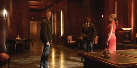 "(L-R) Philip Winchester,  Wesley Snipes, and Charity Wakefield star in ""THE PLAYER"".  Photo Credit: Greg Peters/ NBC/ Courtesy of Sony Pictures Television"